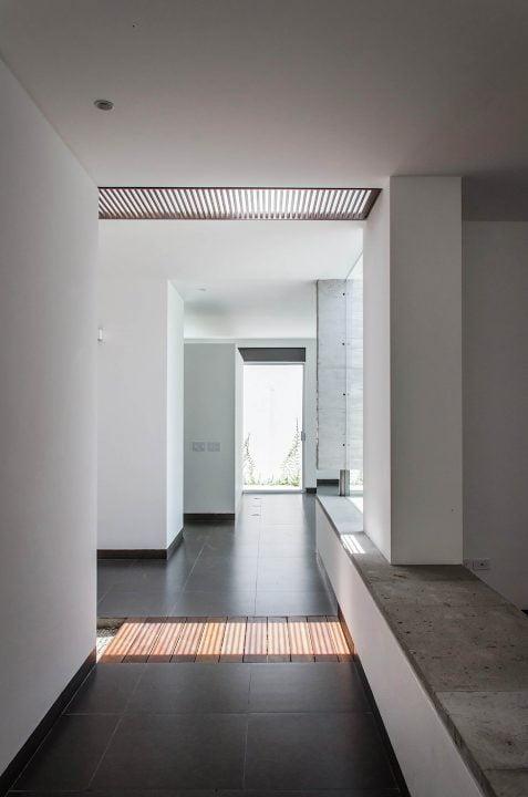 Vista de pasadizo interior