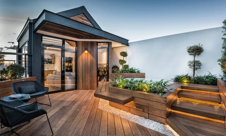 Diseño de la terraza exterior – Fotos: Jesús Rodriguez /Diseño: ANA arquitectura