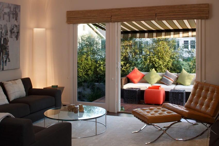 Diseño de la sala con vista a la terraza