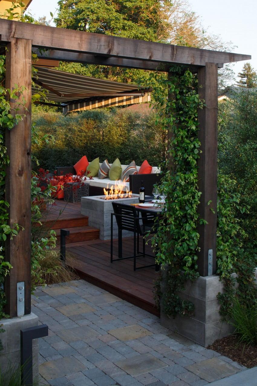 Diseño de una pérgola en la terraza