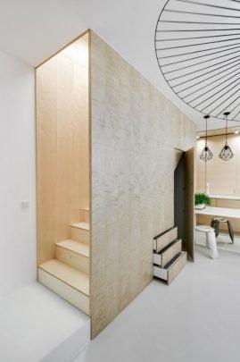 Diseño de escaleras con madera contrachapada
