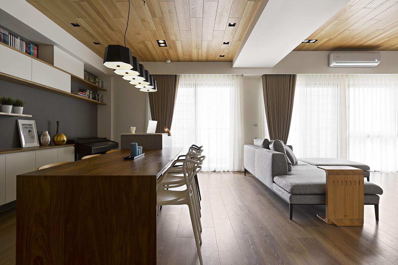 Madera aplicada a los techos tanto de la sala – comedor y pasadizos
