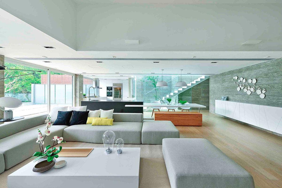 Diseño de interiores de la moderna sala