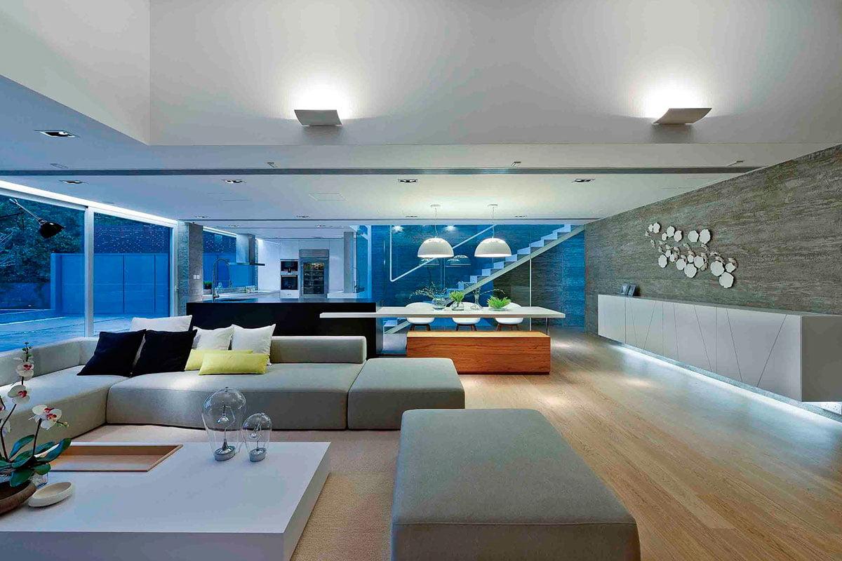 Iluminación artificial de la sala