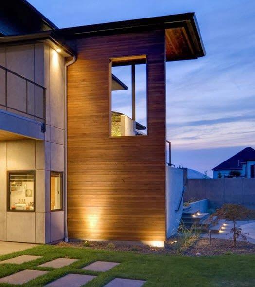 Iluminación nocturna de la casa