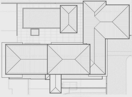 Planos de los techos de la casa